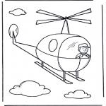 Kinderkleurplaten - Helicoptertje
