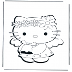 Stripfiguren Kleurplaten - Hello Kitty 1