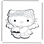 Stripfiguren Kleurplaten - Hello Kitty 1