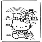 Stripfiguren Kleurplaten - Hello Kitty 10