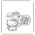 Stripfiguren Kleurplaten - hello kitty 11