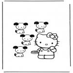 Stripfiguren Kleurplaten - Hello Kitty 12