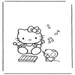 Stripfiguren Kleurplaten - Hello kitty 13