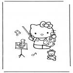 Stripfiguren Kleurplaten - Hello Kitty 14