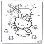Stripfiguren Kleurplaten - Hello kitty 16