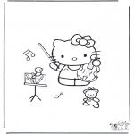 Stripfiguren Kleurplaten - Hello kitty 17