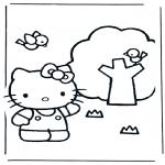 Stripfiguren Kleurplaten - Hello Kitty 19