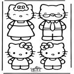 Stripfiguren Kleurplaten - Hello Kitty 22