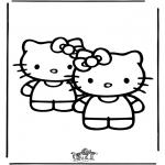 Stripfiguren Kleurplaten - Hello Kitty 25
