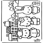 Stripfiguren Kleurplaten - Hello Kitty 26