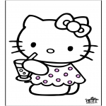 Stripfiguren Kleurplaten - Hello Kitty 27