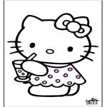Stripfiguren Kleurplaten - Hello Kitty 28