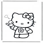 Stripfiguren Kleurplaten - Hello Kitty 3