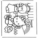 Stripfiguren Kleurplaten - Hello kitty 5