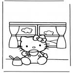 Stripfiguren Kleurplaten - Hello kitty 6
