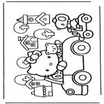 Stripfiguren Kleurplaten - Hello kitty 7
