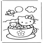 Stripfiguren Kleurplaten - Hello kitty 9