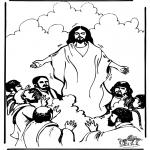 Kleurplaten Bijbel - Hemelvaart 1