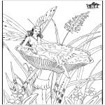 Allerlei Kleurplaten - Herfst elfjes 2