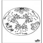 Mandala Kleurplaten - Herfst mandala 1