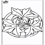 Mandala Kleurplaten - Herfst mandala 2