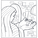 Kleurplaten Bijbel - Het muntje van de weduwe