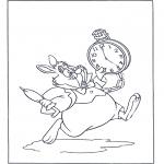 Stripfiguren Kleurplaten - Het witte konijn