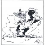 Stripfiguren Kleurplaten - hiawatha 2