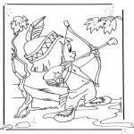 Stripfiguren Kleurplaten - Hiawatha