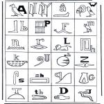 Allerlei Kleurplaten - Hierogliefen 2