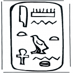 Allerlei Kleurplaten - Hierogliefen