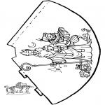 Knutselen Prikkaarten - Hoedje Sint 1