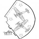 Knutselen - Hoedje vliegtuig
