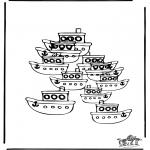 Knutselen - Hoeveel boten
