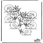 Knutselen - Hoeveel slakken