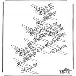 Knutselen - Hoeveel vliegtuigen