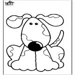 Kleurplaten Dieren - Hond 10