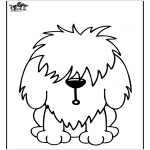 Kleurplaten Dieren - Hond 11