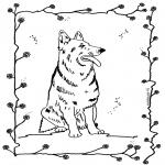 Kleurplaten Dieren - Hond 4