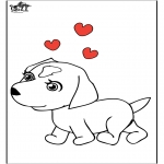 Kleurplaten Dieren - Hond 7