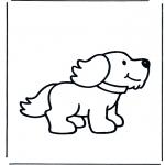 Kinderkleurplaten - Hondje