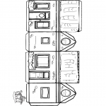 Allerlei Kleurplaten - Huis knutselen 1