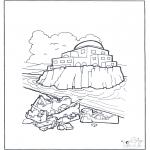 Kleurplaten Bijbel - Huis op zand en rots