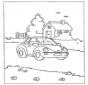 Huisje en auto
