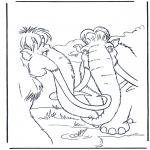 Stripfiguren Kleurplaten - Ice age 11