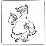 Stripfiguren Kleurplaten - Ice age 5