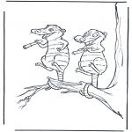 Stripfiguren Kleurplaten - Ice age 6