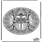 Mandala Kleurplaten - Insect mandala 1
