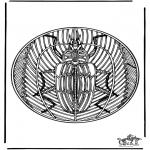 Mandala Kleurplaten - Insect mandala 2