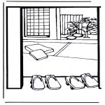 Allerlei Kleurplaten - Japans huis